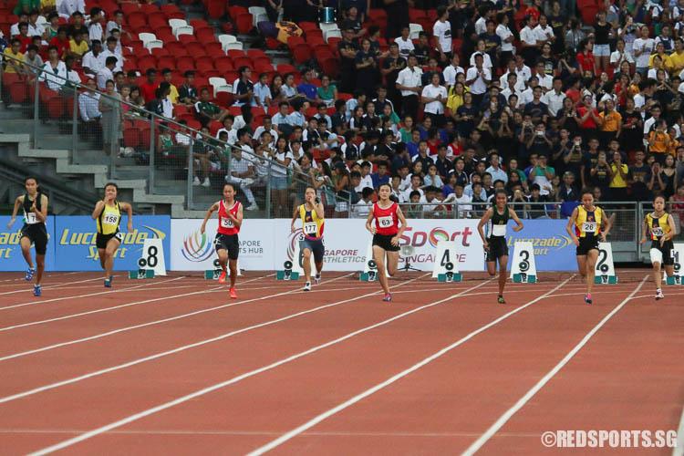 Athletes starting off their 100m sprint. (Photo © Chua Kai Yun/Red Sports)