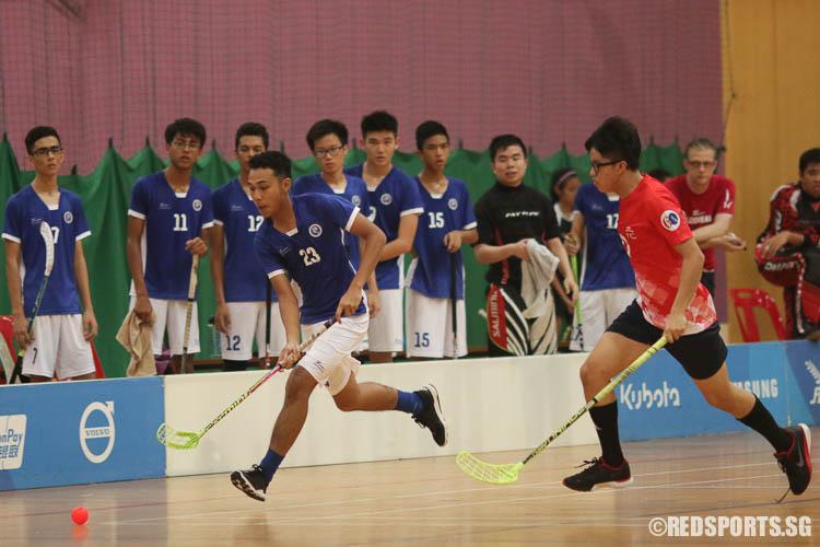 Fat-Hullah B Farid (#23) of MJC attacks. (Photo © Chua Kai Yun/Red Sports)