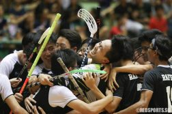 RI players celebrate their third championship victory.  (Photo © Chua Kai Yun/Red Sports)