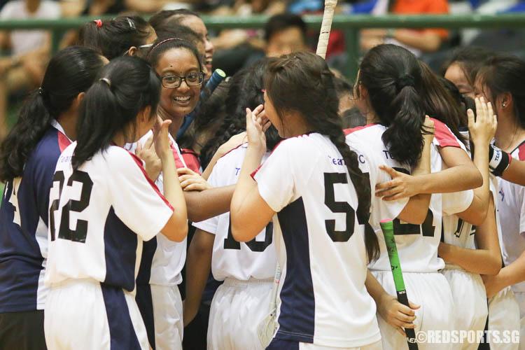 YJC players celebrate their championship victory. (Photo © Chua Kai Yun/Red Sports)