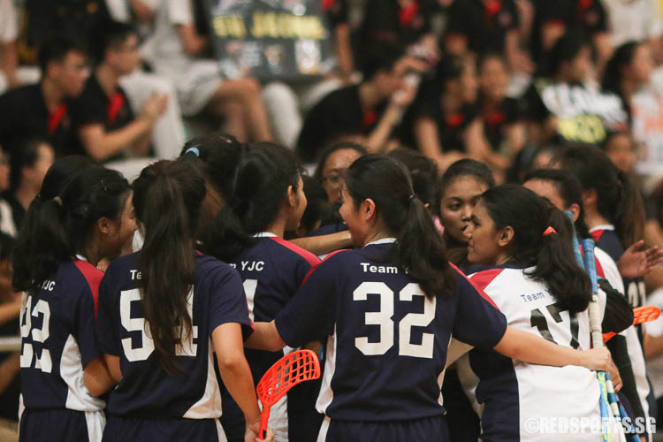 YJC players celebrating their win. (Photo © Chua Kai Yun/Red Sports)