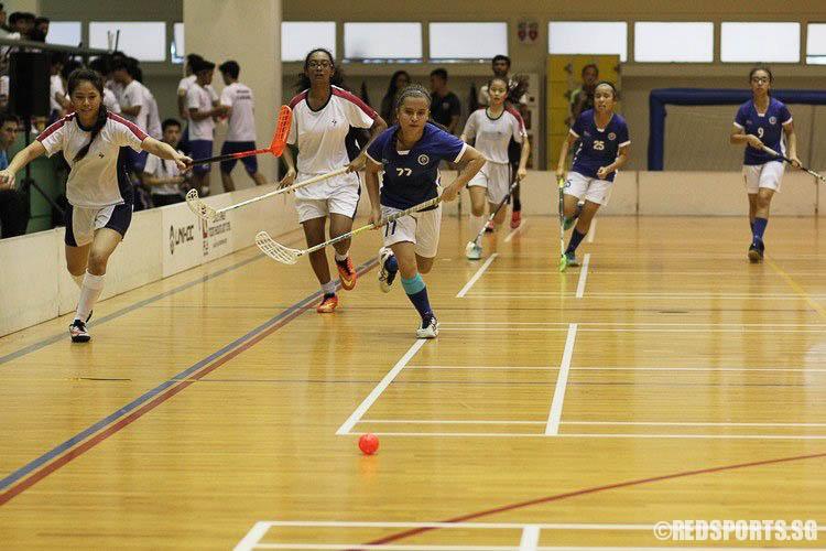 Thomson May (MJC #77) chasing down the ball. (Photo © Ryan Lim/Red Sports)