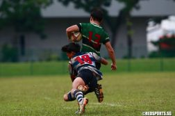 SYOF Rugby: St Andrew's beat RI 5-0 to win the U-16 final. (Photo © Les Tan/Red Sports)