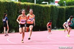 The Singapore Sports School quartet won the U-19 4x100m race in a time of 50.59s. Dunman High were second in 55.77s while  St Anthony's Canossian were third in 56.96s. (Photo © Les Tan/Red Sports)