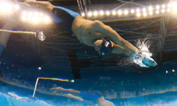 2016 Rio Olympics - Swimming - Final - Men's 100m Butterfly Final - Olympic Aquatics Stadium - Rio de Janeiro, Brazil - 12/08/2016. Joseph Schooling (SIN) of Singapore competes on his way to winning the gold.    TSRIO2016 REUTERS/Stefan Wermuth FOR EDITORIAL USE ONLY. NOT FOR SALE FOR MARKETING OR ADVERTISING CAMPAIGNS.