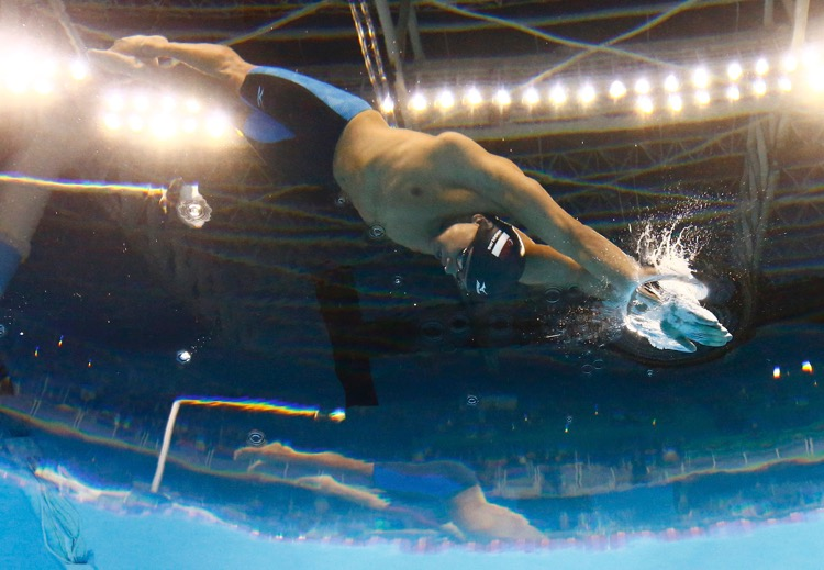 2016 Rio Olympics - Swimming - Final - Men's 100m Butterfly Final - Olympic Aquatics Stadium - Rio de Janeiro, Brazil - 12/08/2016. Joseph Schooling (SIN) of Singapore competes on his way to winning the gold.    TSRIO2016 REUTERS/Stefan Wermuth