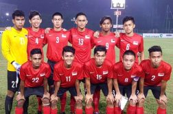 The starting lineup for Singapore against Timor Leste. (Photo: FAS Facebook)
