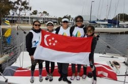 Singapore won the bronze after beating France 2-0. (Photo courtesy of Koh Ling Ying)