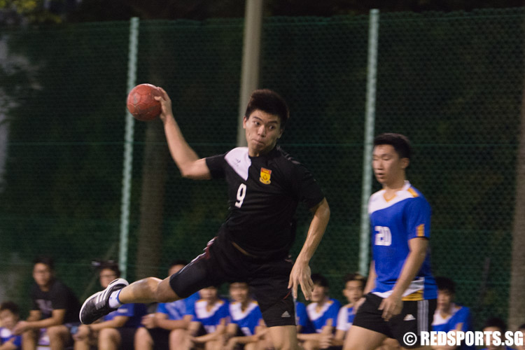 Neo Wei Yong (#9) of SP looks to score. Wei Yong scored 5 goals in their win against NP. (Photo 1 © Jerald Ang/Red Sports)