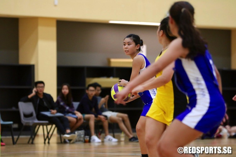 Ngee Ann Poly (blue) swept past Singapore Poly 69-20 to win their fourth POL-ITE Netball Championship in a row. (Photo © Les Tan/Red Sports)