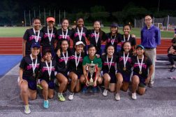 Nanyang Poly emerged as champions of the POL-ITE Touch Football Championship. (Photo by Temasek Poly Digital Media Crew)