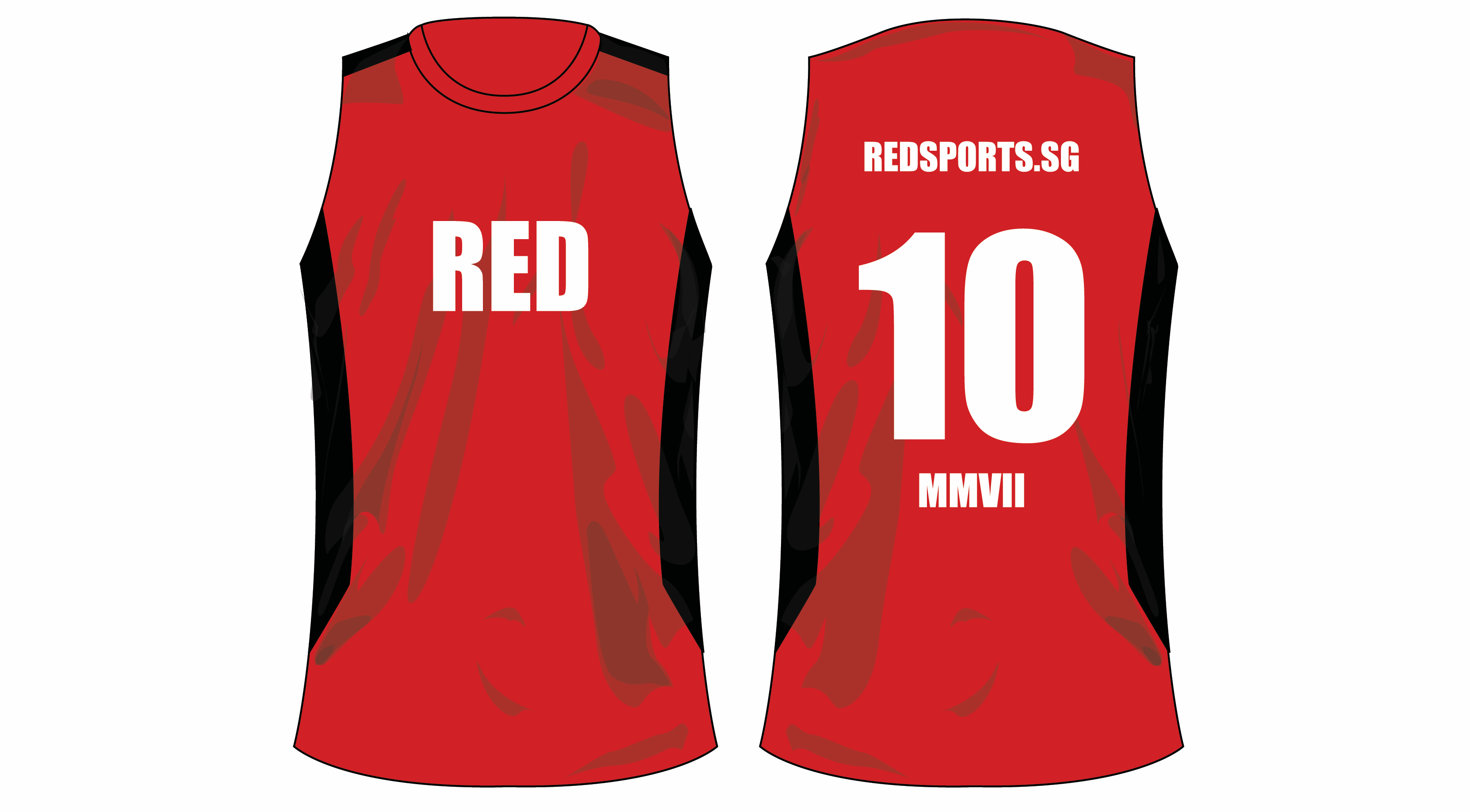 To celebrate our 10th anniversary, we are producing this RED10 tank top in limited quantities.
