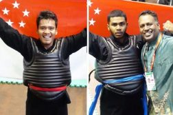 Shakir Juanda (left) and Sheik Farhan (right) and both won their respective weight class finals at the World Pencak Silat Championships in Bali. (Photo: PERSISI)