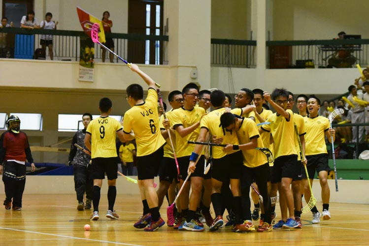 VJC dethroned three-time defending champions RI in 5-2 goals galore. (Photo 17 © Cheah Wenqi/Red Sports).