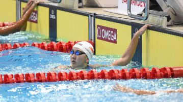 Quah Jing Wen finished second in the women's 200m freestyle with a time of 2:03.10 on the first day of the 13th Singapore National Swimming Championship. (Photo © Stefanus Ian/Red Sports)