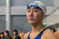 Quah Jing Wen clocked a new national under-17 record in the Women's 200m butterfly with a time of 2:12.95 to beat the previous mark that was set by Tao Li. (Photo courtesy of Singapore Swimming Association)