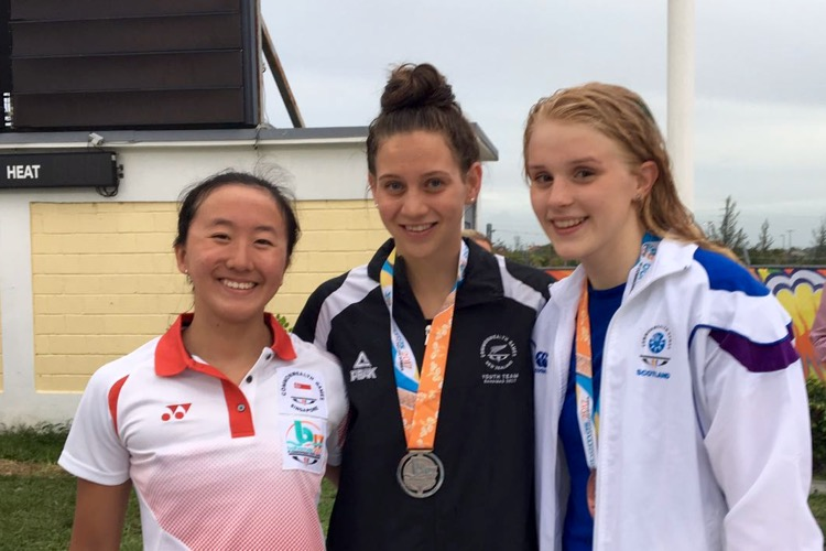 Quah Jin Wen 100m free commonwealth youth games