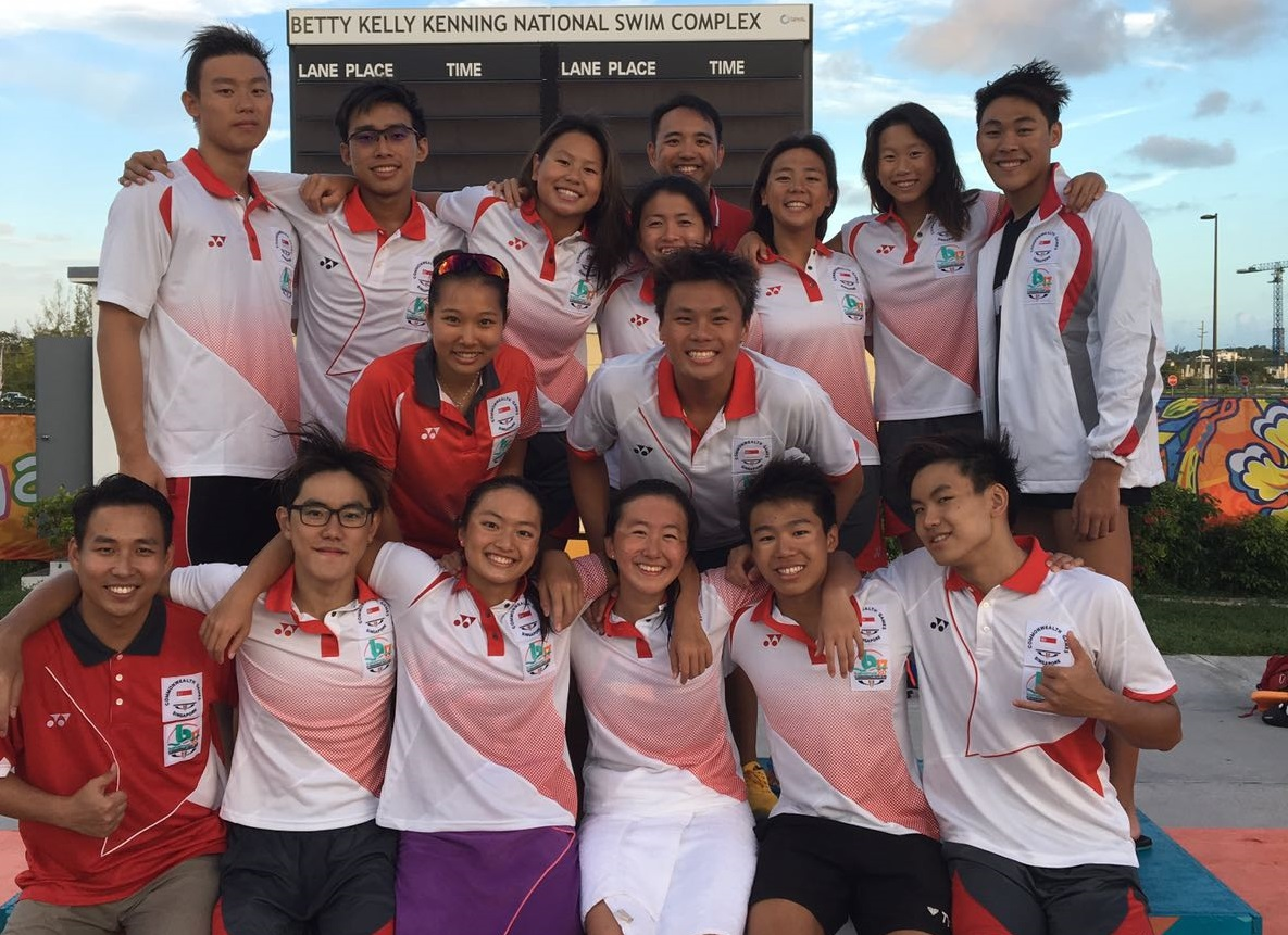 singapore swimmers at commonwealth youth games
