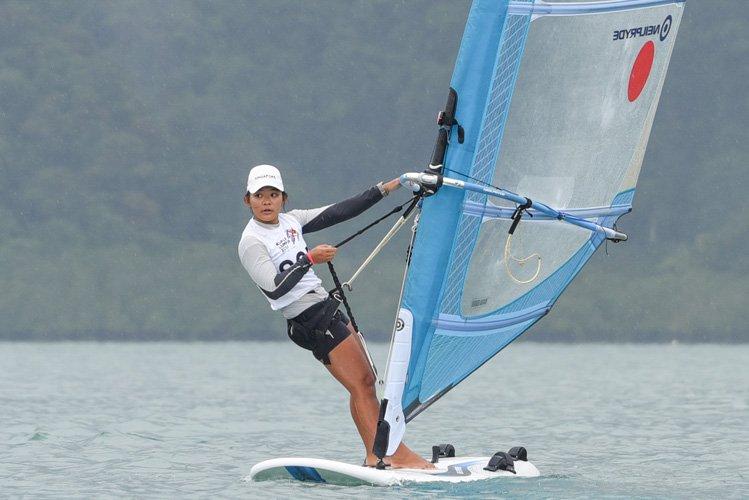 nicole lim windsurfing sea games