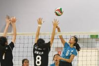 Grace Tan (NYGHS #5) in action during the match. (Photo © Stefanus Ian/Red Sports)