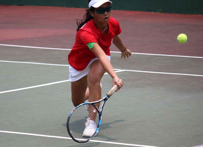 Deanne Choo in action during the 2018 ITF Junior Fed Cup. (Photo 4 by Red Sports reader Warren Choo)