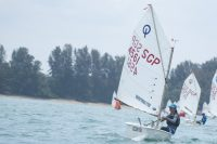 Meghan Tan of Nanyang Girls' High School (#4561) came in first with a score of 16 points in the C Division Girls' Optimist Sailing Championships. (Photo © Stefanus Ian/Red Sports)