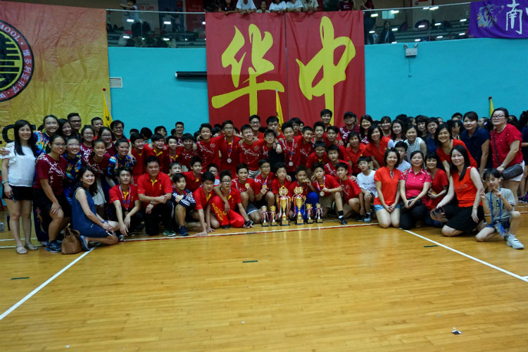 Hwa Chong Institution earned the champion title for C division boys and A division girls. (Photo 9 © REDintern Pang Chin Yee)