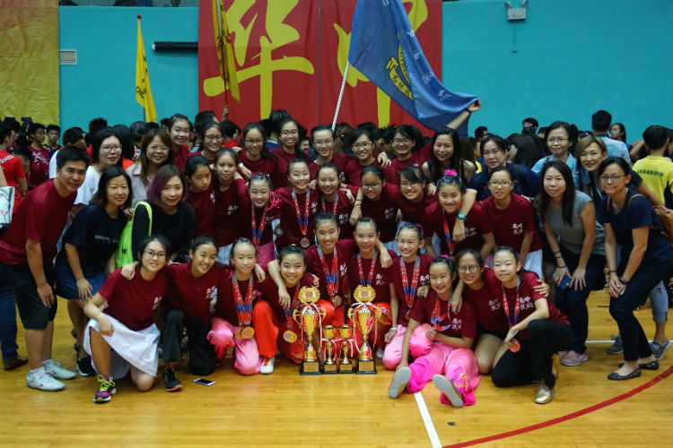 Nanyang Girls' High School sweeps B and C Girls Division championship titles for third straight year. (Photo 1 © REDintern Pang Chin Yee)