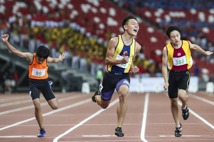 national school games track and field championships 100m final boys