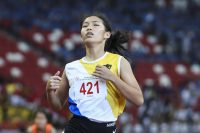 national school games track and field championships 100m final girls