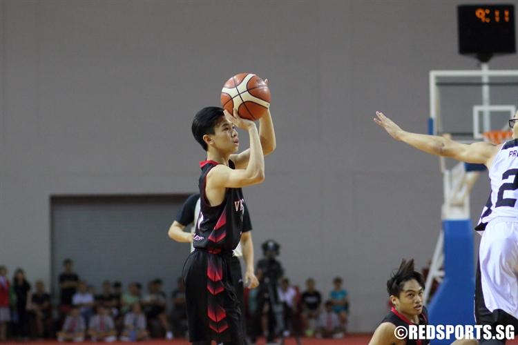 Chan Qi Feng (NV #3) pulls up for a shot. (Photo © Chan Hua Zheng/Red Sports)