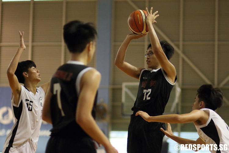 Jonathan Gan (NJC #72) pulls up for an elbow jumper. (Photo 9 © Dylan Chua/Red Sports)