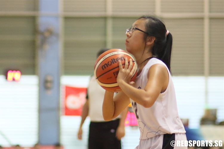 Judy Huang (RVHS #12) takes aim for a shot. (Photo 8 © Dylan Chua/Red Sports)