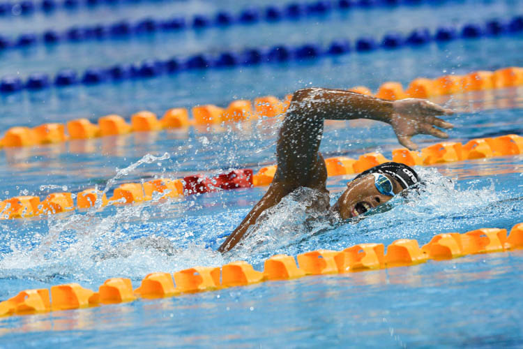 Aflah Fadlan Prawira of Indonesia clocked a timing of 15 minutes 35.98 seconds to finish second in the men's 1500m freestyle event. (Photo 1 © Lee Yu En/Red Sports)