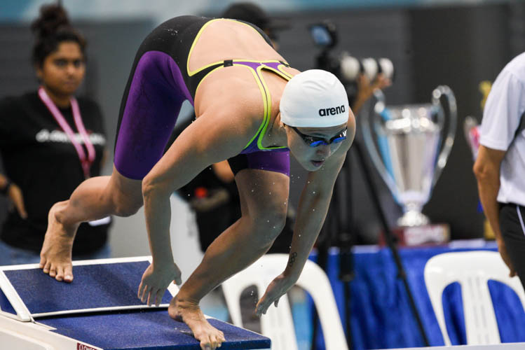 Quah Ting Wen of Swinfast Aquatic Club finished 5th in the women's 100m freestyle event. (Photo 12 © Lee Yu En/Red Sports)