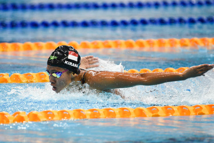 Adinda Larasati Dewi of Indonesia clinched gold in the women's 200m butterfly event with a time of 2 minutes 14.60 seconds. (Photo 14 © Lee Yu En/Red Sports)