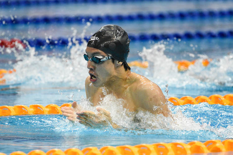 Ng Jing Fu of Selangor finished 2nd in the B-finals of the men's 200m breaststroke event with a timing of 2 minutes 20.19 seconds. (Photo 16 © Lee Yu En/Red Sports)