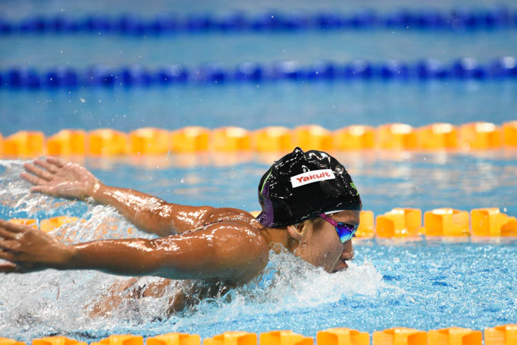 Adinda Larasati Dewi of Indonesia finished first in the women's 200m butterfly event. (Photo 17 © Lee Yu En/Red Sports)