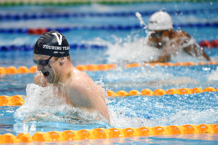 Samuel Williamson of Swimming Victoria-VI took home the champion title for the men's 200m breaststroke event, setting a new meet record of 2 minutes 14.84 seconds. (Photo 19 © Lee Yu En/Red Sports)