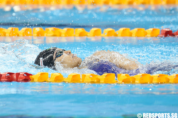 Sophie Caldwell representing Swimming Victoria clocked a time of 2 minutes 16.91 seconds in the Women's 200m Backstroke Finals to clinch gold. (Photo © Lee Jian Wei/Red Sports)