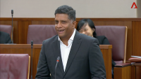 A screengrab of a CNA video of NMP Ganesh Rajaram speaking in Parliament on Wednesday, July 11, 2018.