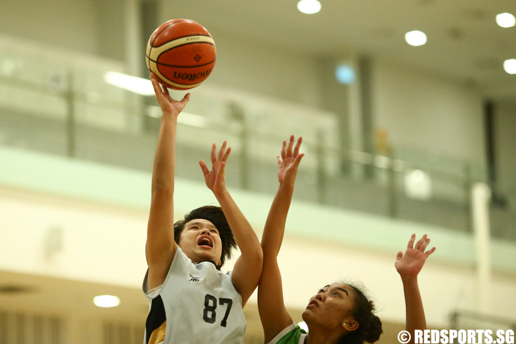 (#87) of Singapore Institute of Management shoots against Republic Polytechnic. (Photo © Lee Jian Wei/Red Sports)