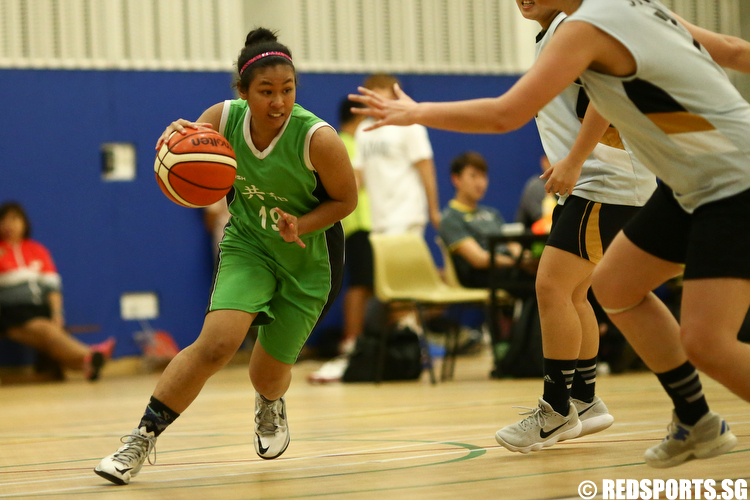 (#19) of Republic Polytechnic drives against Singapore Institute of Management. (Photo © Lee Jian Wei/Red Sports)