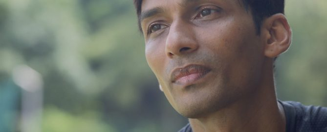 A screenshot of UK Shyam from the mini documentary produced by Run and Gun Media for Ethos Books. (Photo 1 courtesy of Ethos Books)