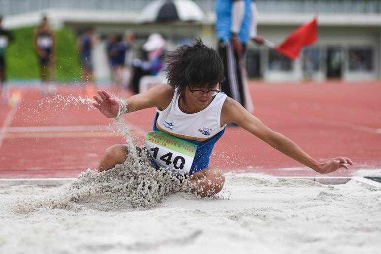 Darren Lee of Ngee Ann Polytechnic competing in the Men's Triple Jump Open event. (Photo © Stefanus Ian/Red Sports)