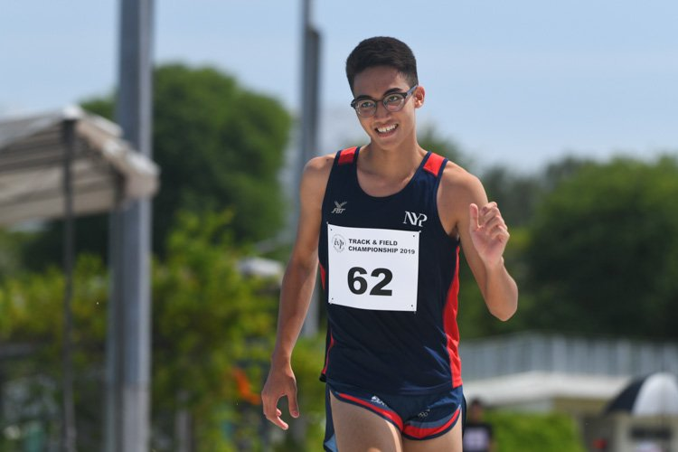 Putera Muhammad Ariffin (#62) of NYP finished eighth in the Men's Triple Jump event with a distance of 12.57m. (Photo 1 © Stefanus Ian/Red Sports)