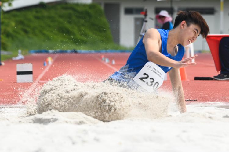 Dyfrig Lim (#230) of NP finished ninth in the Men's Triple Jump event with a distance of 12.21m. (Photo 1 © Stefanus Ian/Red Sports)