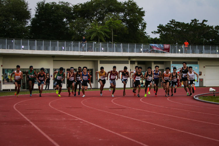 Runners getting ready at the start of the men's 1500m final. (Photo 1 © REDintern Young Tan)