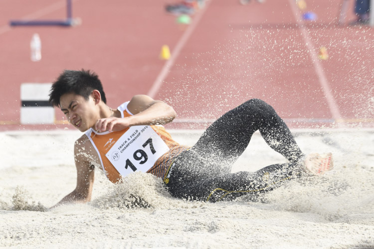 Joseph Zhao of NUS came in eighth in the Men's Long Jump event with a final distance of 6.33m. (Photo 1 © Stefanus Ian/Red Sports)