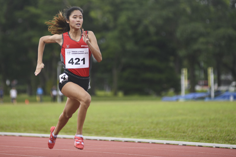 Clara Goh of TP finished first in the Women's 200m race, stopping the clock at 26.09s. (Photo 1 © Stefanus Ian/Red Sports)